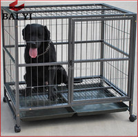 Wholesale Double Dog Cage With Wheels And Divider On Alibaba
