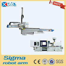 servo motor IML label robot arm for injection molding machine
