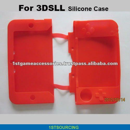 silicon skin/case for Nintendo 3dsll, game cover case