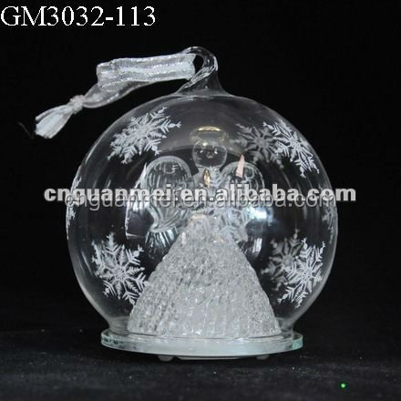 hanging glass angel figurines Xmas tree decoration