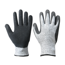 Hot sale glass work hand protective Latex coating glove