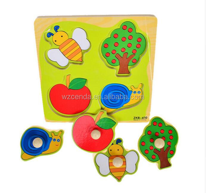 Educational Baby 3d Wooden Puzzles Toy
