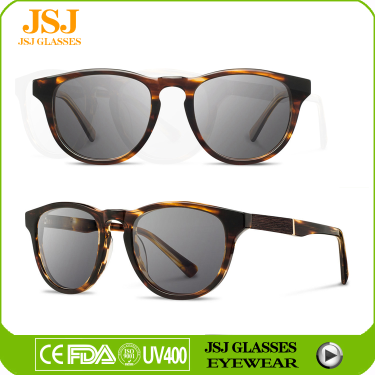 2017 high profit margin products, metal,acetate combine wooden sunglasses gift