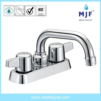 CUPC UPC CSA Ceramic Two Handle Lavatory Faucet CP/BN/ORB Finishing (4101-0401)