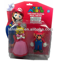 2pcs Set Nintendo Super Mario & Princess Collectible Figure Toy in Twin Pack