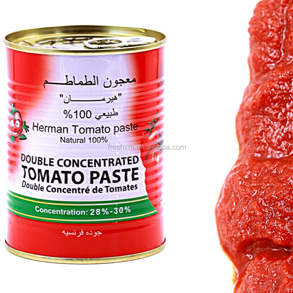 Canned Tomato Paste 70g*50 Hard Open 28-30%