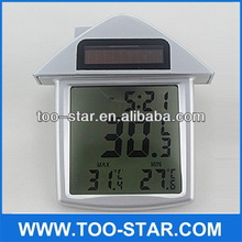 Solar window digital thermometer