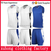 Chinese clothing suppliers team sublimated basketball jersey uniform design