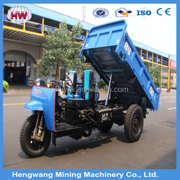 Three Wheel Cargo Truck / Cargo Tricycle With Cabin Heavy Load