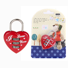 CH-28B CJSJ top security heart shape digital padlock notebook password lock