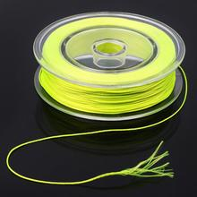 Fly Fishing Backing Line Yellow Orange 100yards 20lbs/30lbs Braided Fly Lines