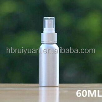 New Products 50ml 60ml Empty Metal Aluminum Cosmetics Spray Bottle in stock