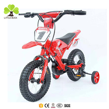Hebei factory two shock absorption ride on motorcycle kids dirt bikes 12 16 green red blue moto children bicycle