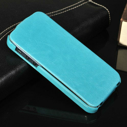 Heat pressing up and down leather flip case for iphone 5s colorful flip case for China cell phone accessories