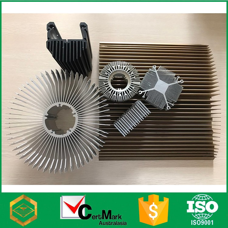 Aluminum Extrude Cylindrical Amplifier Heat Sink Manufacture