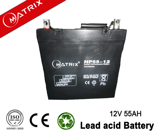High qualified lead acid battery Best battery for solar power 12V 55Ah