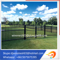2016 good quality colors house gate designs and Wrought iron fence Easy installation