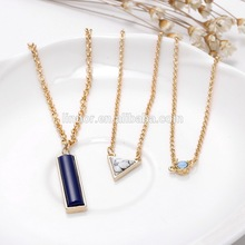 professional Gold Color Zinc Alloy Metal chain Tophus Pendant Necklaces cheap fashion jewelry made in china