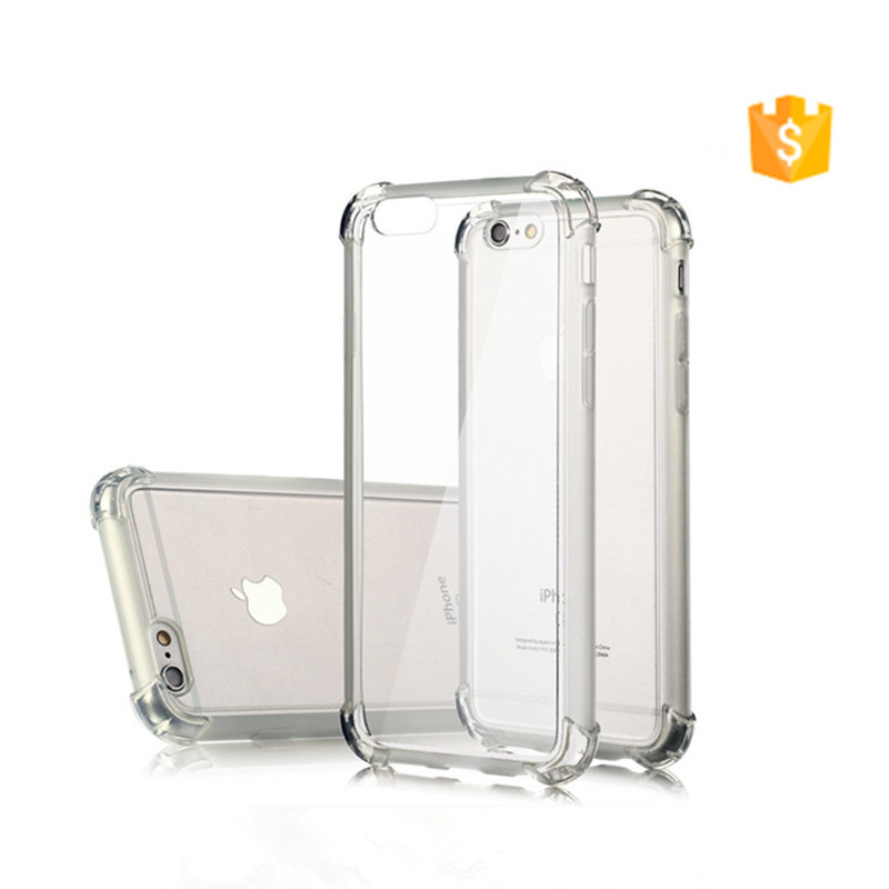 Crystal Clear Transparent Anti knock Soft TPU Shockproof Cover Case For iPhone 7