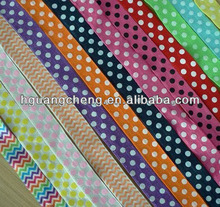 Fashion Chevron Printed Fold Elastic Lace In Stock