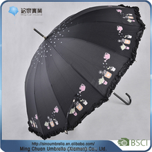 Automatic cheap straight umbrella