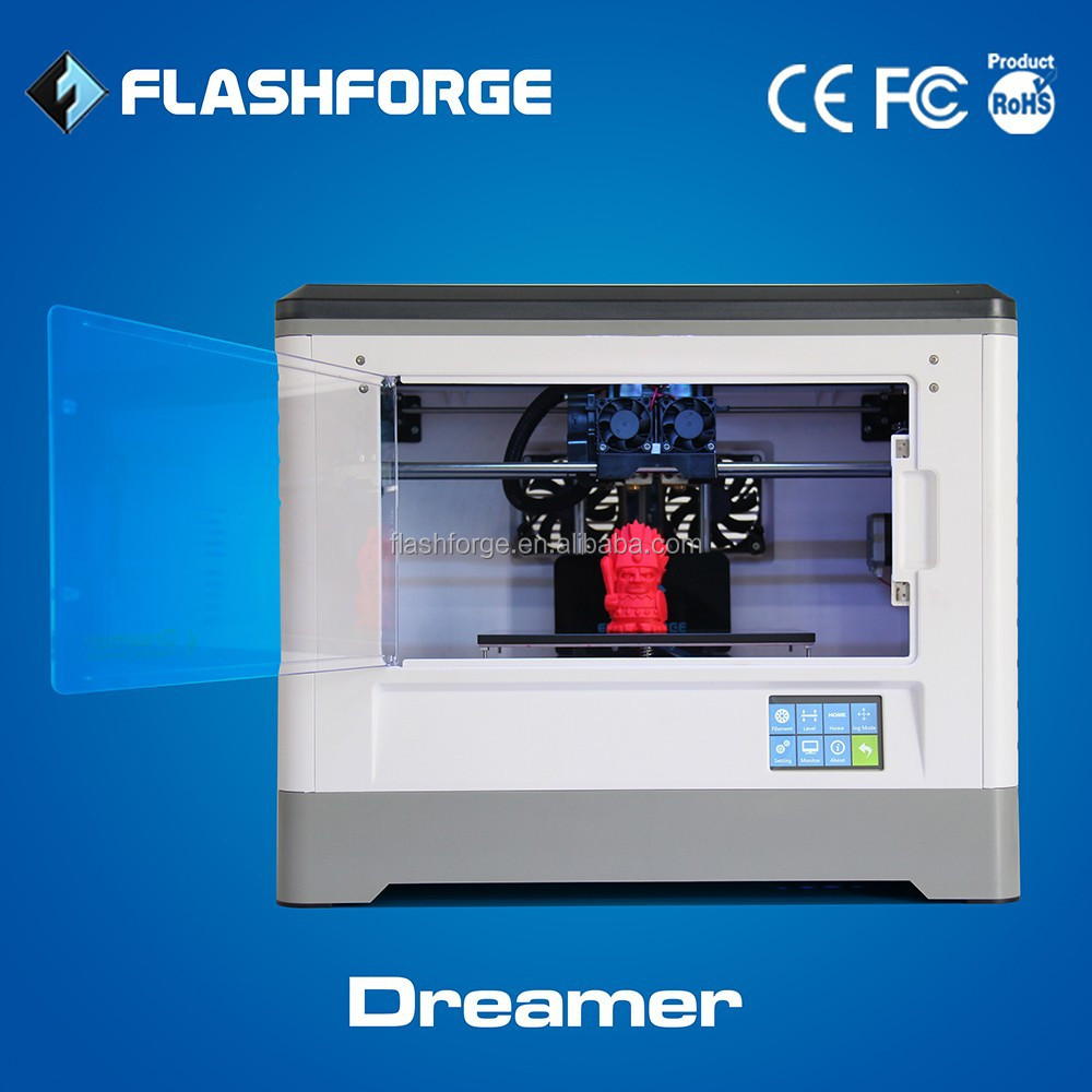 Flashforge Dreamer touch screen metal 3d printer wifi connection