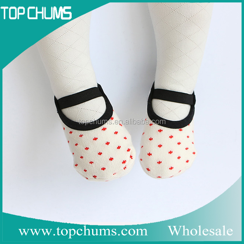 2016 Wholesale Anti Slip Skid Toddlers Infants cotton baby shoe socks