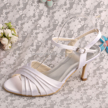 White Ladies Sandals Summer Wedding