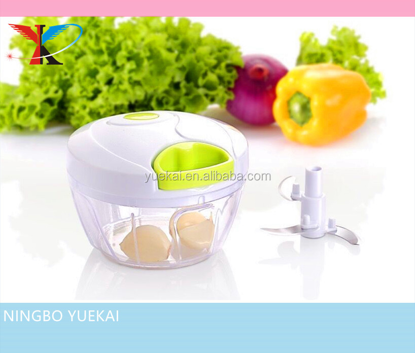 Mini Pull Chopper Food Processor - Vegetable, Fruit, Garlic and Herb Slicer