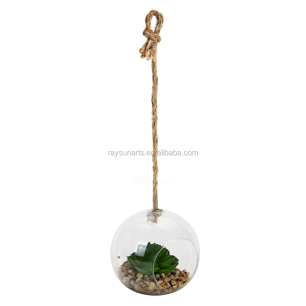 Hanging Terrarium Glass Vase Flower Air Plant Pot Container
