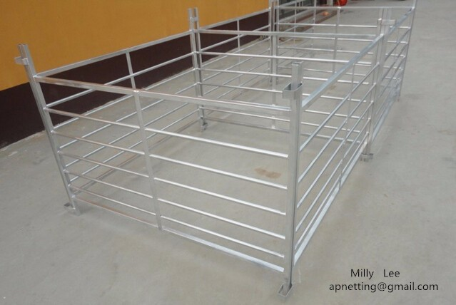 5feet sheep corral hurdle panel /7bars sheep hurdles/HDG Ranch Sheep Hurdle Fence