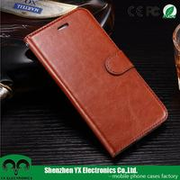 high class pu leather wallet flip cover case for iphone 7 plus with stand