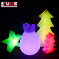 Colorful Christmas decorative plastic snow led christmas snowman