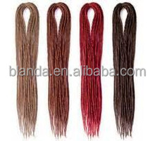 Cheap Color Dreads, Ombre Dreadlock Hair Extensions, Double Ended Dreadlock