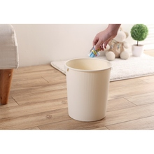 Household Round Standing clear plastic garbage cans eco-friendly household cleaning trash can