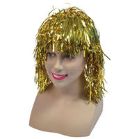 Hot sale blonde wig cosplay fashion party halloween tinsel wigs FW4157