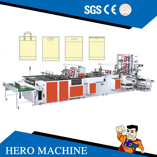 HERO BRAND HDPE LDPE Biodegradable Garbage Cloth T-Shirt Carry Poly Nylon Polythene Shopping Plastic Bag Making Machine Price