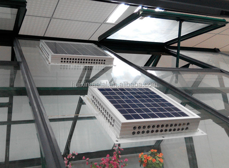 Eco-friendly greenhouse ventilation solar power small exhaust fans