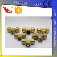 LB-GUTEN TOP Brass Lead Free Brass Push-fit Female Centre Tee Brass Fitting Plumbing