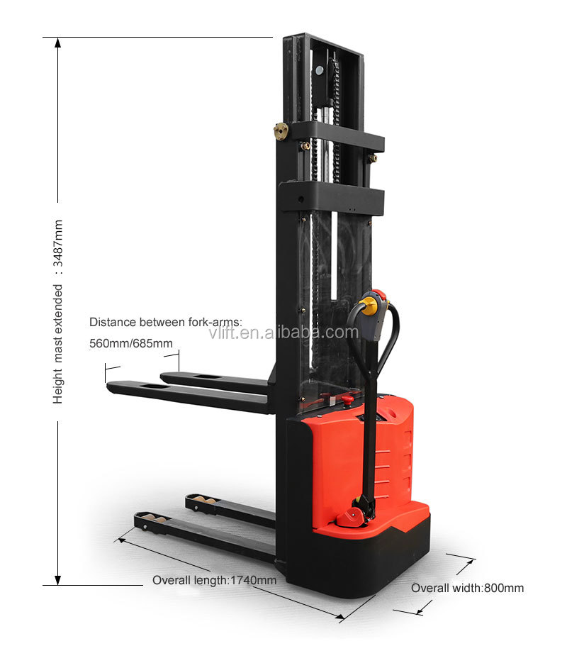 1 ton mini electric stacker with cheap price