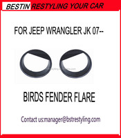 Jeep JK accessories head lampe cover bird fender flare