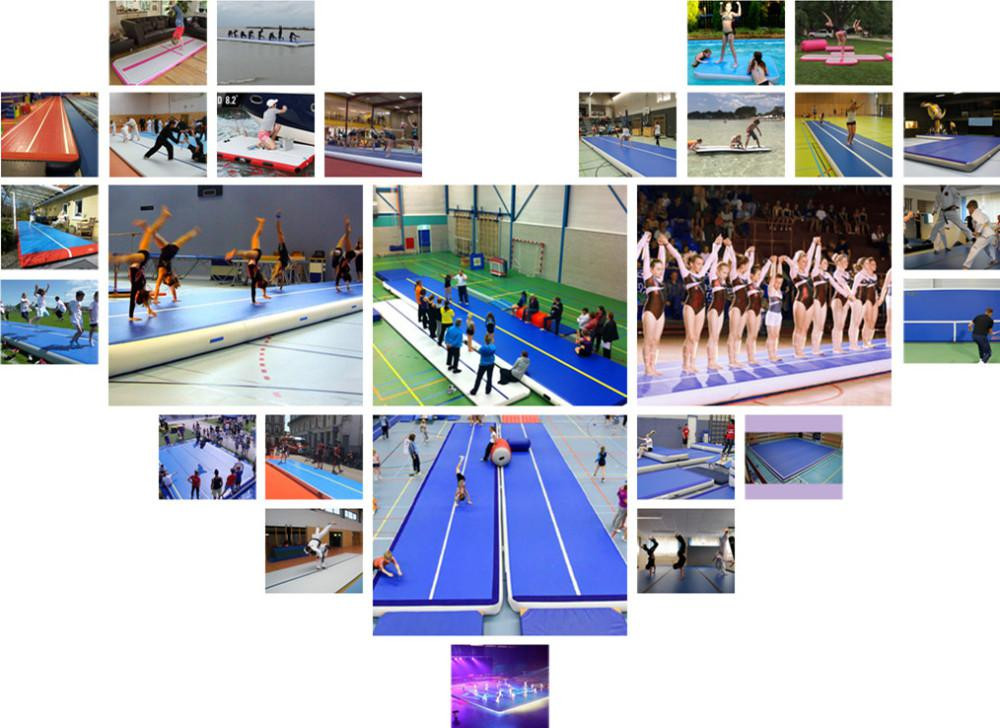 New product tumble track inflatable air mat for gymnastics, yoga mat for kids