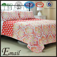 2015New design bright red color printed disposable massage Turkish bed cover sheet /bedding set