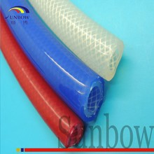 4.0MM I.D Fiber FDA Approval Braid Reinforced High Temperature Silicone Rubber Tubing/Tube For Coffee Maker