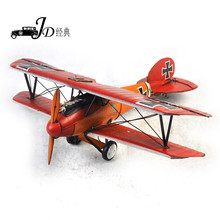 100% Vintage handmade Metal Plane Model Aircraft Glider Biplane Aeromodelo Pendant Airplane Models Home Christmas Decoration