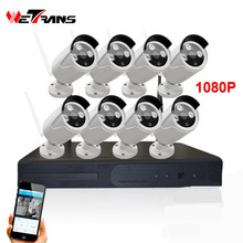 1080p Night Vision WIFI IP camera NVR KIT 1080P Wireless IP Camera 8ch Wireless KIT System IPK9208B-W