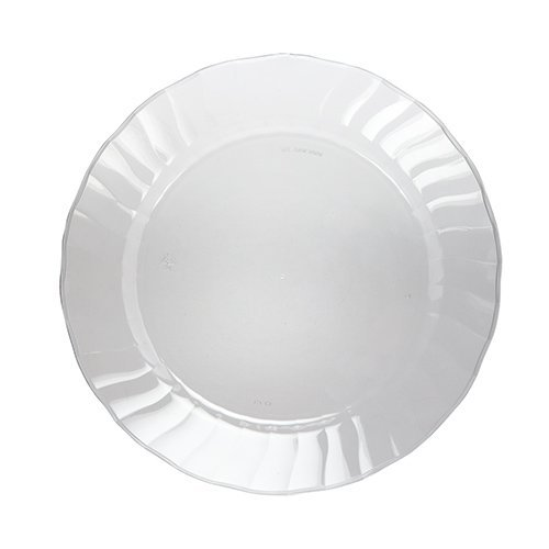 Daily Chef Clear Seashell Dish Disposable Plastic Plate