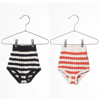 MS75416B Latest baby shorts cute striped knitted shorts