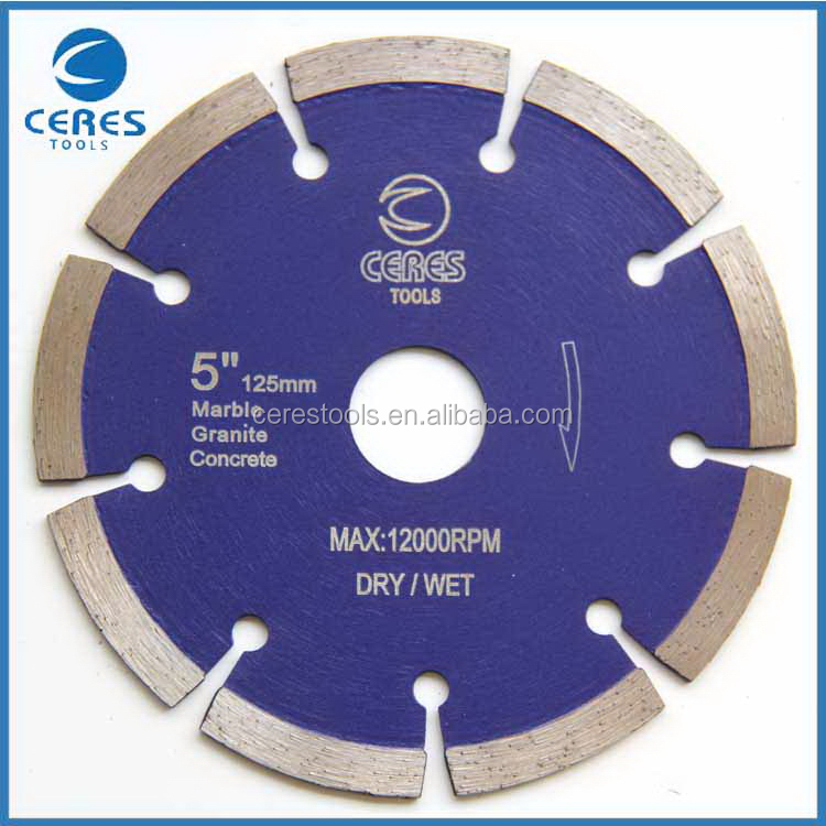 Practical high grade diamond saw blade for pavement