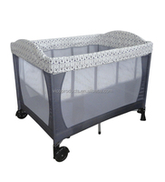 Lovely design foldable baby playpen,baby play yard,baby travel cot and kids play yard